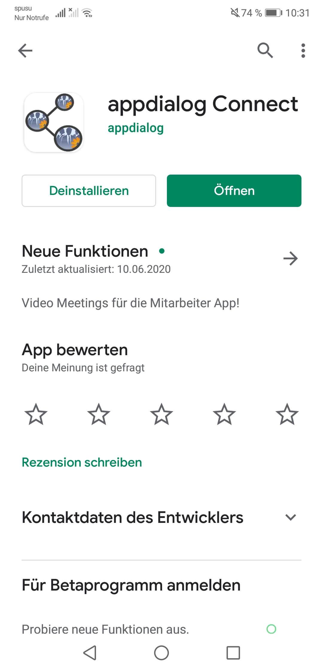 Appdialog Connect App einfach und kostenlos aus dem Google Play Store herunterladen